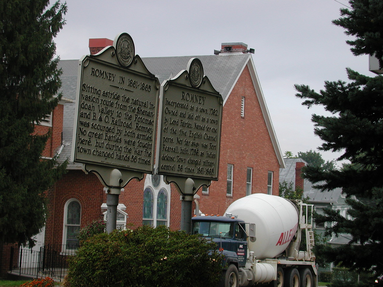Historic signs in Romney.