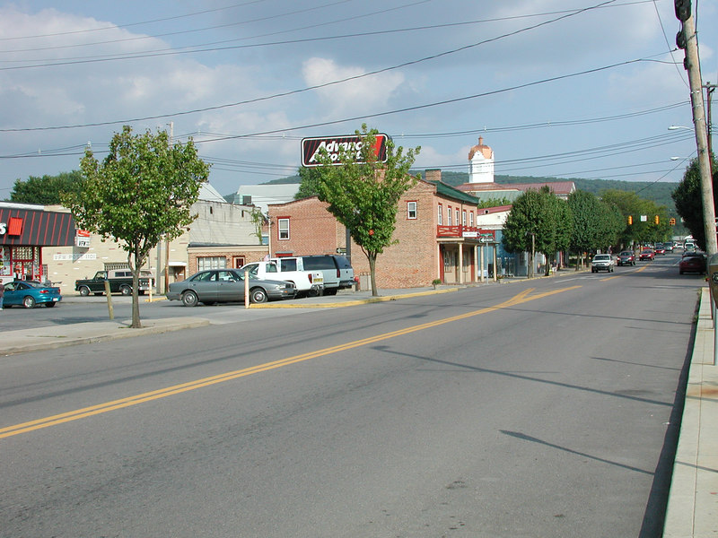 Advance Auto Parts in town and the Hampshire County Courthouse ... all in beautiful down town Romney, West Virginia.