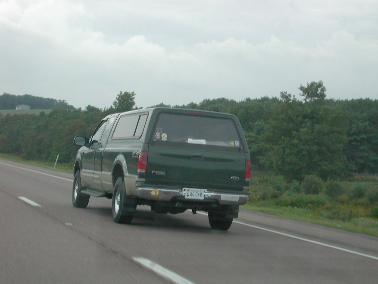 "On the way home on Rt # 68 in Maryland, I was passed by 2 big guys in a pickup. The Virginia plate quite possibly is meant in infer  "" BIG GAME"""