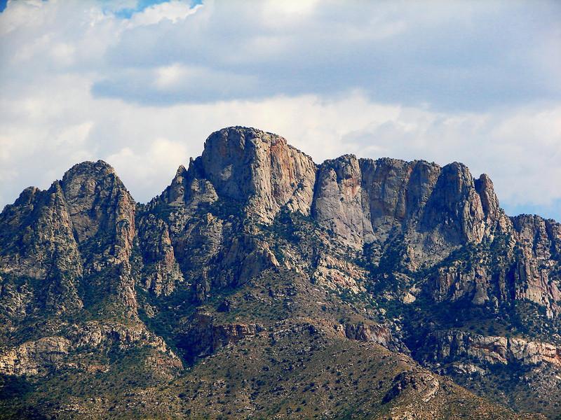 View of the Santa Catalina Mountain Range from WNPA parking lot.