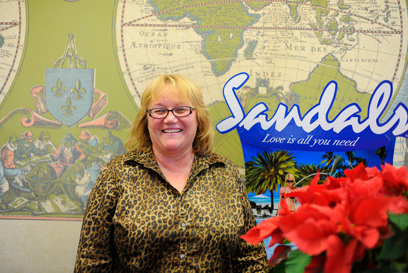 Linda Solywoda, general manager at Whitcomb Travel Service, Inc. poses for a photo in the office at 2 Main St. in Leominster, Friday.<br /> SENTINEL & ENTERPRISE / BRETT CRAWFORD