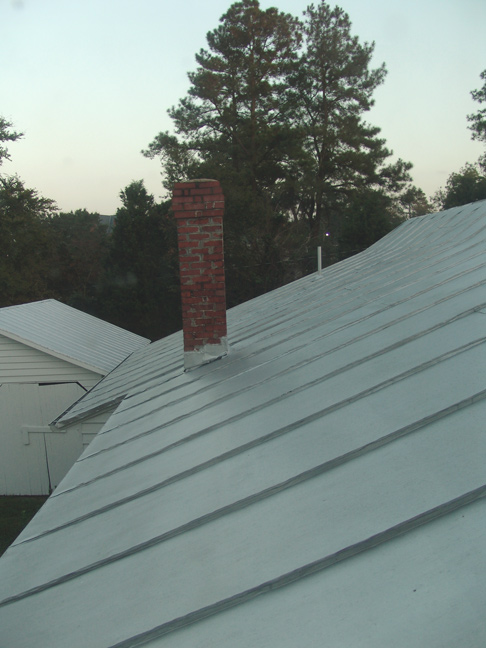 View of new Steel Roof