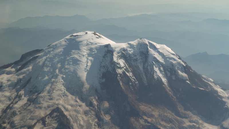 This is the top of Mount Raineer - one of the great mountaineering destinations.