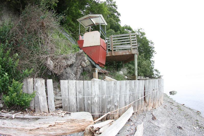 South end of failing bulkhead.