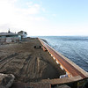 The nearly completed seawall repair.