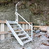 Custom fabricated aluminum staircase which can raised when not in use.