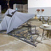 Gazebo (Mobile) <br /> Damaged at work by a storm.