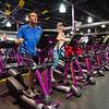 John Marzinsky and Lisa DiCario workout at Planet Fitness on Thursday morning. SENTINEL & ENTERPRISE / Ashley Green