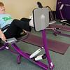 Barbara Parente works out at Curves in Leominster on Thursday morning. SENTINEL & ENTERPRISE / Ashley Green