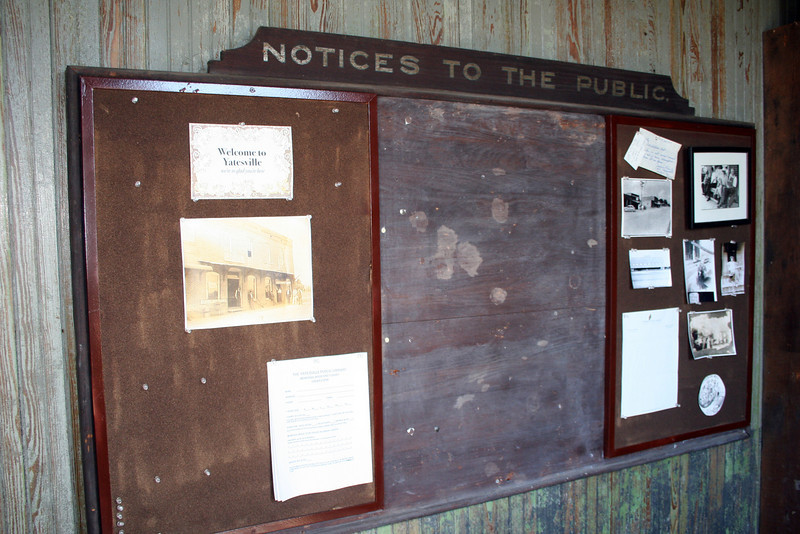 Yatesville Depot bulletin board 16