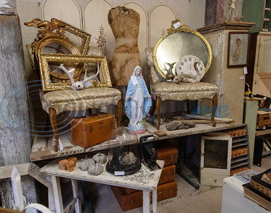 Collectables are for sale at Ye Olde City Antique Mall in downtown Tyler, which on reopened in new sections of an adjacent building on Monday after a devastating fire on June 2.