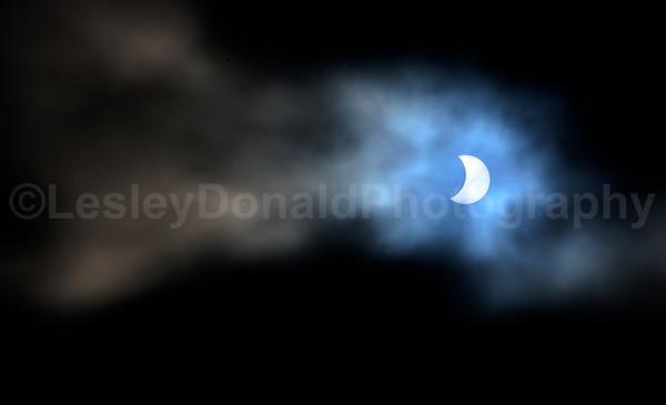 20.3.2015 Partial Eclipse of The Sun, North Queensferry, Scotland UK. ©LesleyDonald