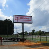 Thomas Oilfield Services lighted pole sign