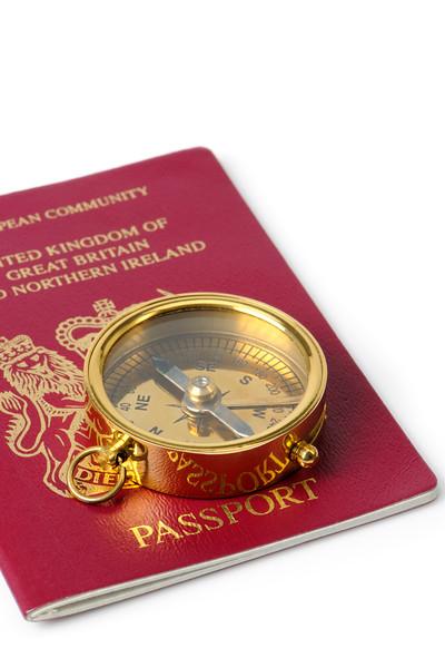 United Kingdom Passport and Compass