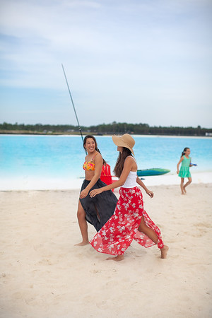 Remove Fishing Pole/ Girl in background?