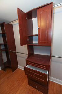Unit #3: Spacious and luxurious, walk-in closet. Includes ironing station, built-in wardrobe storage, along with closet LED ambient lighting.