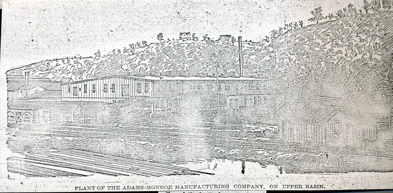 Sketch of the Adams-Monroe Manufacturing Company, on the Upper Basin (4267)