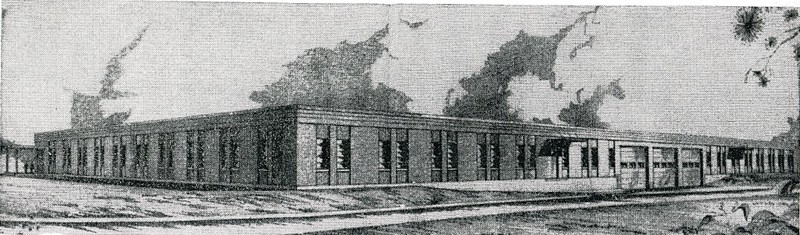 Rendering of the East Side of the Proposed New Craddock Terry Shoe Corporation Central Warehouse and General Offices  (4436)