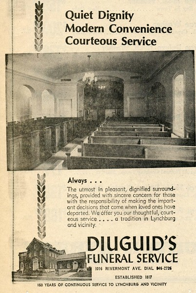 Advertisement for Diuguid's Funeral Service (4494)