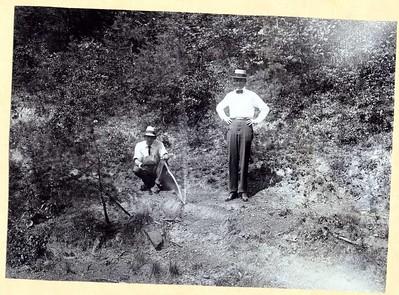 P. B. Winfree Inspecting a Pipe Leak, c. 1914 (08267)