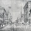 Guggenheimer Store, on right, in 1885 Sketch showing Main Street facing East (4588)