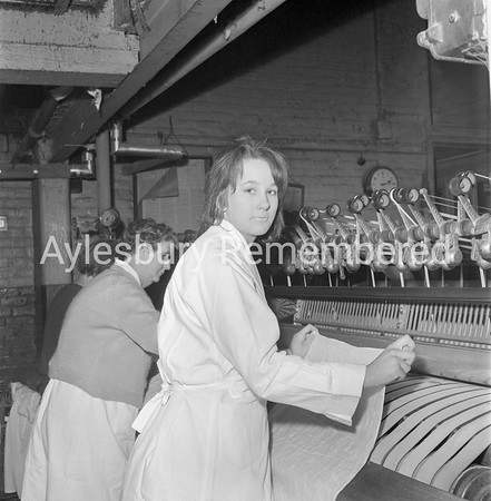 Brenda West at Aylesbury Steam Laundry, Feb 15th 1962
