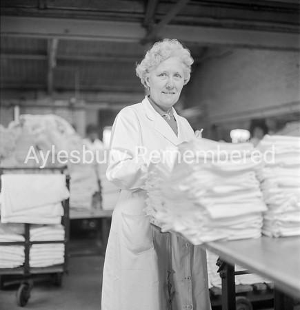 Lillian Bignell at Aylesbury Steam Laundry, Feb 15th 1962