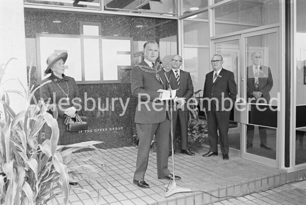 Mayor Maurice Buckingham, Sep 28th 1972