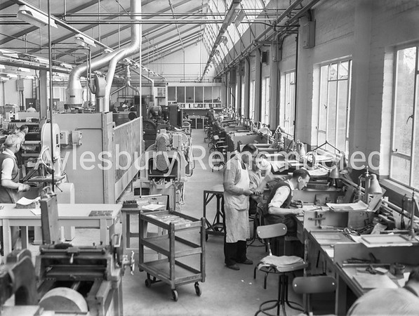 New extension at Hazell, Watson & Viney, May 22nd 1957