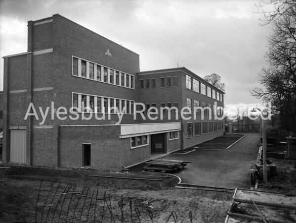 New extension at Negretti & Zambra, Feb 14th 1957