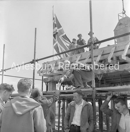 Topping out new Nestlé building, May 29th 1962