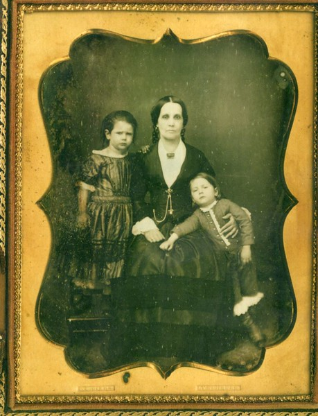 Daguerreotype of an Unidentified Woman and two Children by Peter Gibbs  (4581)
