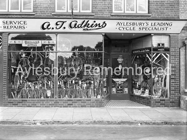 A. T. Adkins cycle shop, High Street, July 6th 1953