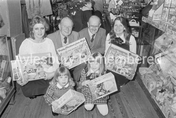 Toys presentation at Baker's in Buckingham Street, Jan 1986