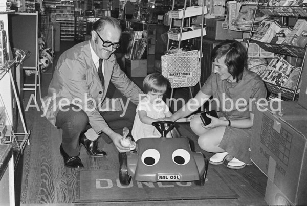 Toy car presentation at Bakers, Sep 5th 1973