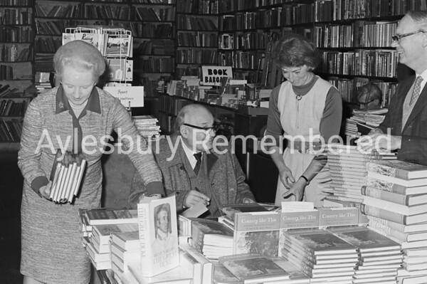 Author Sir Arthur Bryant at Weatherhead's, Nov 16th 1972