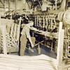 Worker making parts for wagons built by Thornhill Wagon Company (03121)