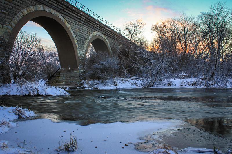 Sunrise under the Bridge