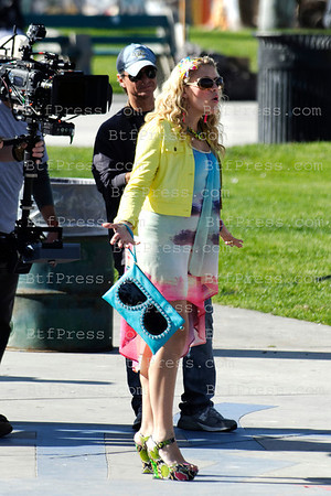 Busy Philipps and cast during the set of Cougar Town in Venice California.
