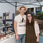 David King and Alexa Kerley of David Kenton King Ceramics.