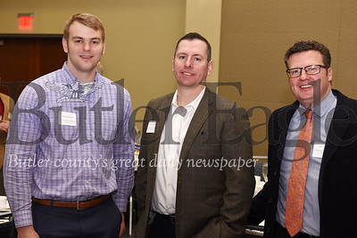 (Left-right) Jordan Grady, Butler County Chamber of Commerce; Larry Summers, CW Howard Inc; Jeff Howard, CW Howard Inc.