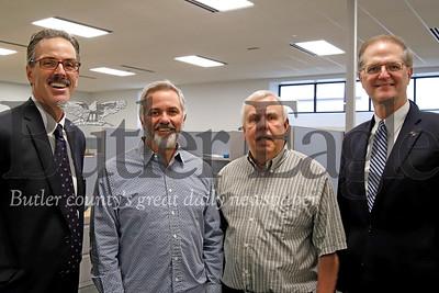 Left to right: Dan Deiseroth, President, CEO of Gateway Engineers; Joe Gray, developer/building owner; Dave Zarnick, Butler Township commissioner/president; State Sen. Scott E. Hutchinson