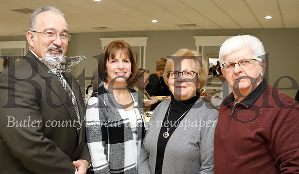 Scott Jordan and Deb Monteleone of Autumn Grove; Donna Ross, St. Peter's Parish of Slippery Rock, Mike Ross, retired.
