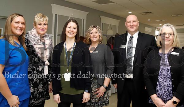 Left to right: Megan Dailey RN, Concordia Visiting Nurses; Loriann Putzier, IntegraCare Corp.; Amberly Jackson, Concordia Visiting Nurses; Faith Mong, Newhaven Court at Clearview; Devid Szewczak, Integracare Corp.; Kathy Roudybush, Newhaven Court at Clearview.