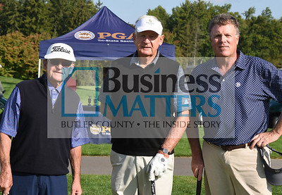 From left: Gib Vucinich, Greensburg CC; Roy Vucinich, Allegheny CC; Marshall Barbour, Butler CC