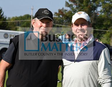 From left, Ed Cheek, and Joe Duff both from the RMU Island Golf