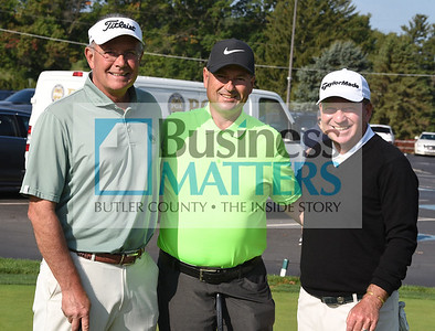 From left, Bernie Hough, Wildwood Country Club; Joe Boros, Treesdale CC, and John Aber, Allegheny CC.