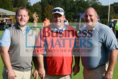 Brent Rodgers, Michael Ferry, Meadville Country Club; Jason Amory, Meadville Country Club.
