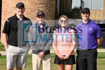 From left, Jordan Grady, Butler County Chamber; Nelson Johnson, DBS Telecom; Amanda McCollough, Dittman Eye Care; Michael Dittman, Dittman Eye Care.