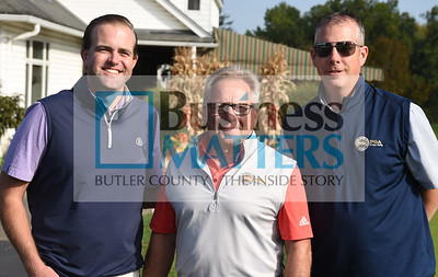 From left, John Brautigam, Butler Country Club; Larry Piroli, Rules Officer; David Wright, Tri-State Golf.